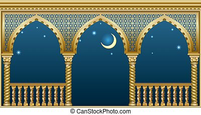 palacio, fairytale, balcón