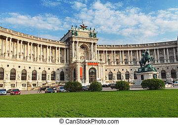 palacio, hofburg, -, austria, imperial, día, viena