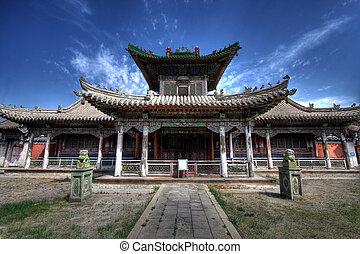 palacio invierno, -, mongolia, ulaanbaatar, capital