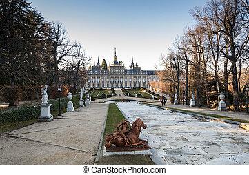 palacio real, de, la, granja