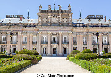 palacio real, de, la, granja, de, san, ildefonso, en, segovia, españa