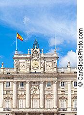 palacio real, madrid, españa