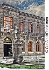 Palacio Real Mexico City - Fountain and one of the entrances...