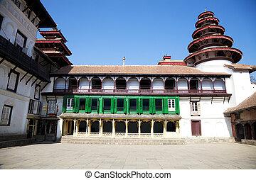 palacio real, sedimento, kathmandu, nepal