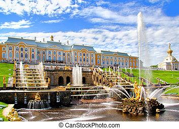 palacio, rusia, petergof