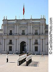 palacio, santiago, de, moneda, la
