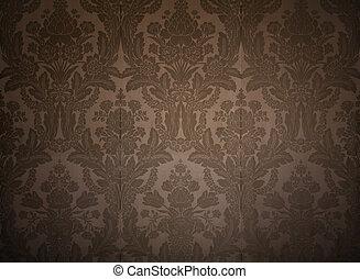 palacio, vendimia, papel pintado, king's, patrones, elegante