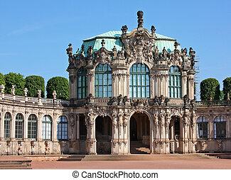 palacio, zwinger, en, dresden