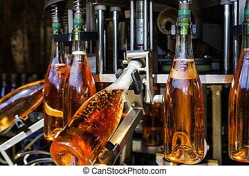 palack, automatizálás, létrehoz, elzász, egyenes, pezsgő