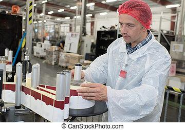 palack berendezés, dolgozó, gép, elnevezés, ember
