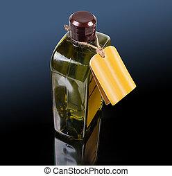 palack, folyékony, sötét, termék, fürdőkád, felszín, műanyag