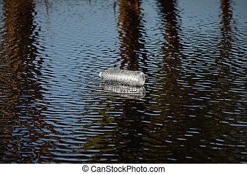palack, folyó, műanyag