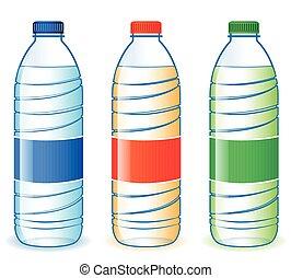 palack, három, műanyag