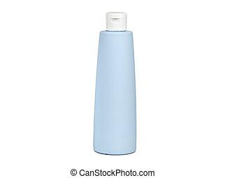palack, kék, műanyag