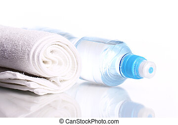 palack, közül, édesvíz, és, törülköző