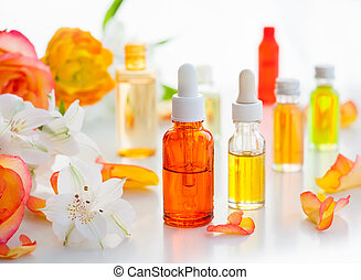 palack, közül, alapvető, aromatic olaj