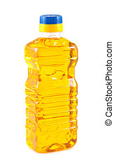 palack, növényi, műanyag, olaj