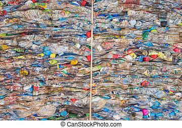 palack, -, szétzúzott, műanyag, 3, thaiföld, recycl, induló...