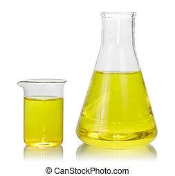 palackok, sárga, folyékony