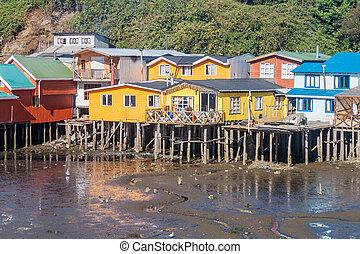 Palafitos (stilt houses)