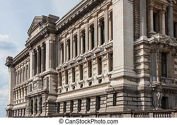 palais ドゥ・ジャスティス, 新古典主義, arcitecture, 中に, ブリュッセル, ベルギー