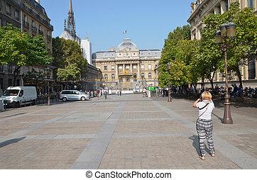 Palais de Justice in Paris, France