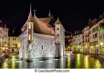 Palais de l'Isle in Annecy, France - Palais de l'Isle is a...