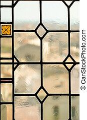 Palais de Papes window - Stained glass window of Palais de...