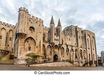 palais, des, bouwterrein, frankrijk, papes, erfenis, unesco...