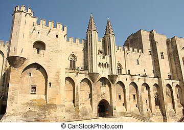 Palais des papes in avignon - the historic capital of the...