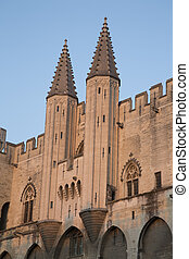 Palais des Papes Palace; Avignon, France