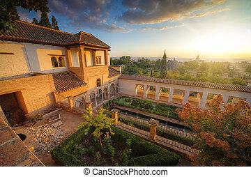 palais, espagne, grenade, alhambra