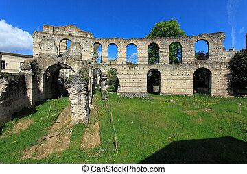 palais, gallien, romano, anfiteatro, (2, c.), bordeaux,...