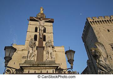 palais, palacio, des, avignon, papes, catedral