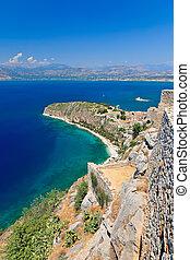 Palamidi castle and Nafplion city, Greece