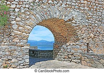 Palamidi castle at Nafplio Argolis Greece - greek famous landmarks