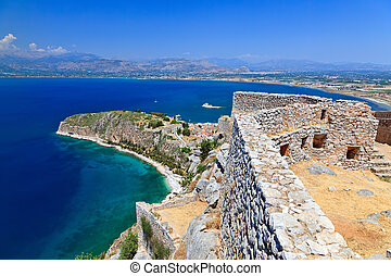 Palamidi fortress in Nafplion, Greece