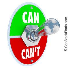 palanca, solución, interruptor, lata, cometido, o, can't, ...