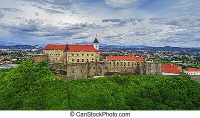 Palanok Castle Castle in Transcarpathia. Western Ukraine.