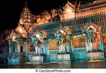 palast, von, der, elefanten, thailand
