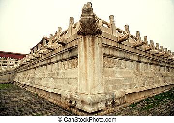 palastartig, architektur, chinesisches