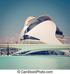 Valencia - Palau de Les Arts in Valencia, Spain