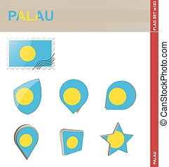 Palau Flag Set, Flag Set #183