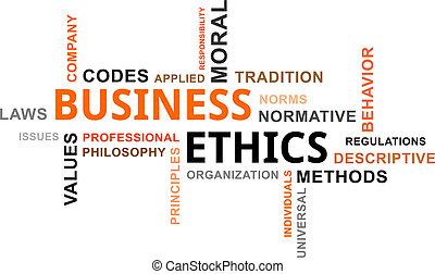 palavra, ética, -, nuvem, negócio