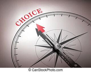 palavra, apontar, abstratos, agulha, escolha, compasso