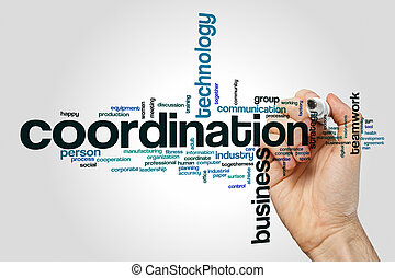 palavra, coordenação, nuvem