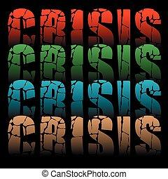 palavra, crise