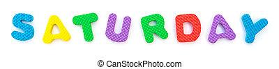 palavra, dado forma, alfabeto, quebra-cabeça, jigsaw, branca, sábado
