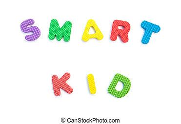 palavra, dado forma, alfabeto, quebra-cabeças, branca, esperto, criança