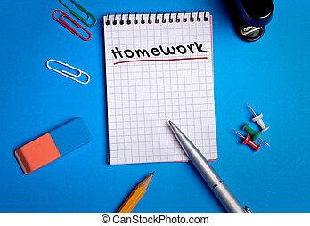 palavra, dever casa